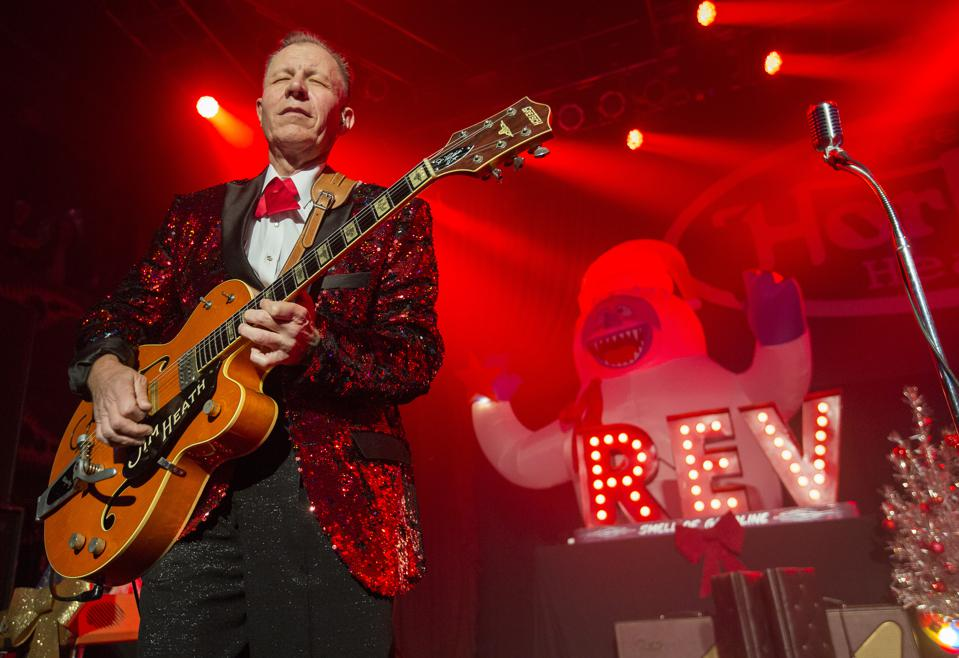 Jim Heath of the Reverend Horton Heat performs on stage at House of Blues in Chicago. Friday, November 29, 2019 (Photo by Barry Brecheisen)
