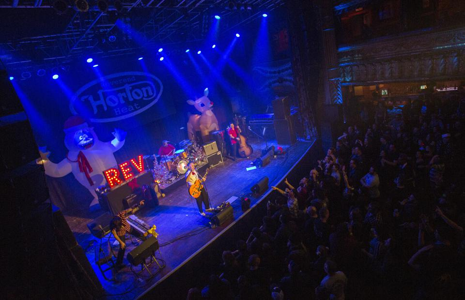 The Reverend Horton Heat performs on opening night of the ″Horton's Holiday Hayride″ tour. Friday, November 29, 2019 at House of Blues in Chicago (Photo by Barry Brecheisen)