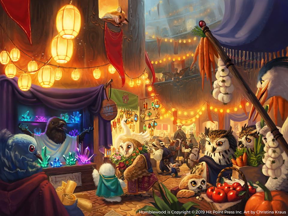 A market in Humblewood.