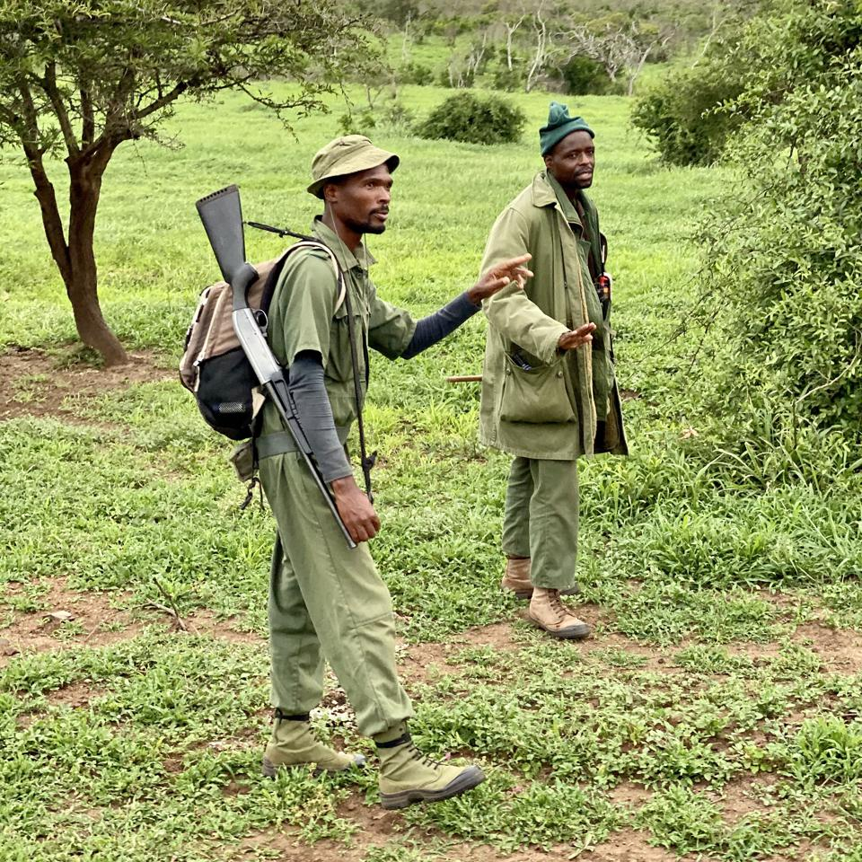 Field rangers at andBeyond Phinda Private Game Reserve, 2019