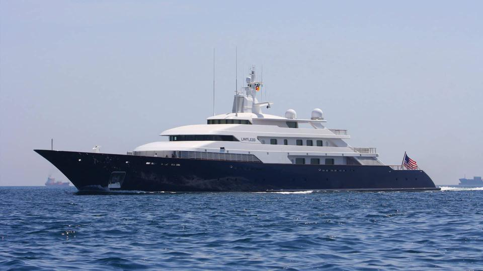 Yacht LIMITLESS owned by Victoria Secret's Leslie Wexner