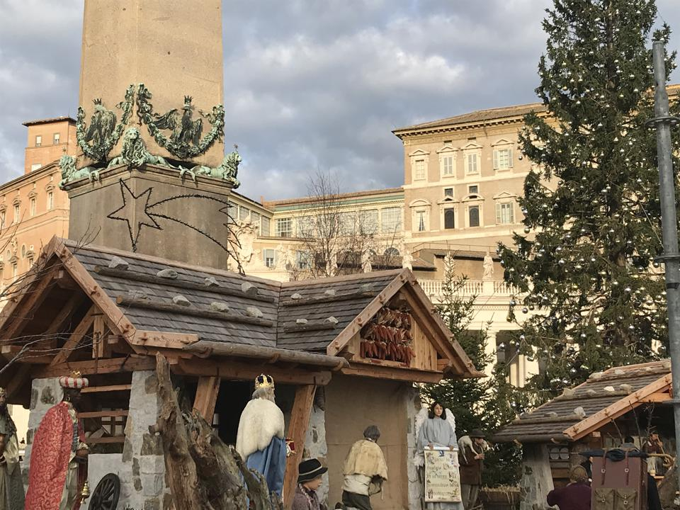 Nativity scene, December 2019, Vatican city