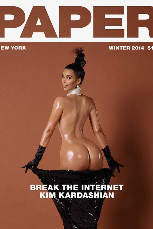 Kim Kardashian on the cover of Paper magazine