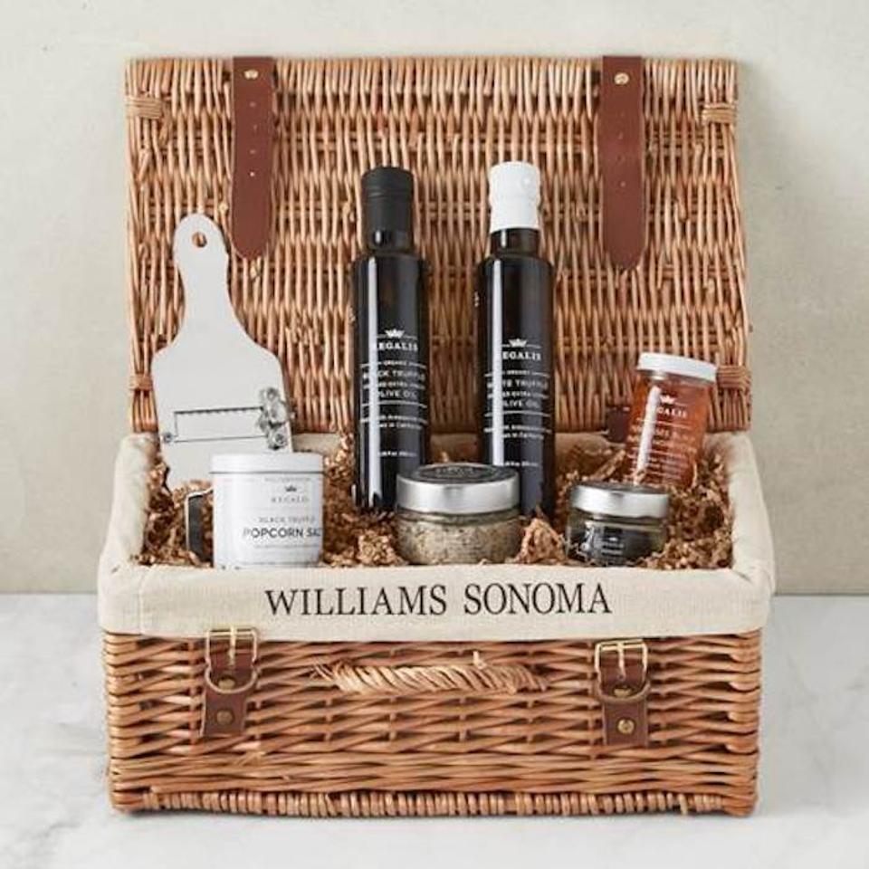 Williams Sonoma, Truffle Lovers Hamper, holiday gift guide, truffles, gift basket