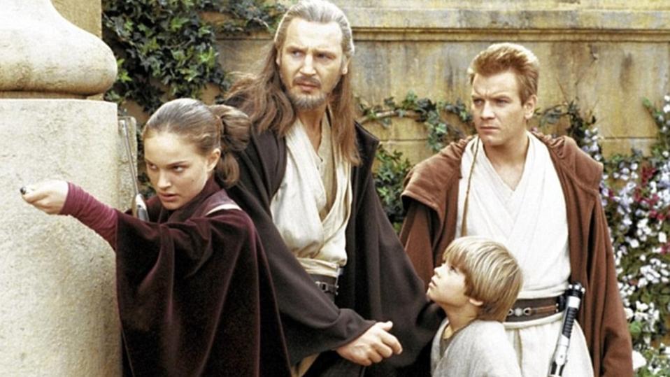 Natalie Portman, Liam Neeson, Jake Lloyd and Ewan McGregor in 'Star Wars Episode One: The Phantom Menace'