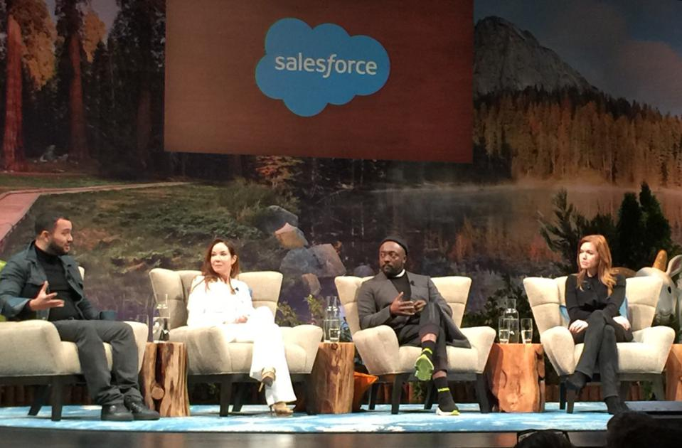 Great Hack Karim Amer and Nina Fialkow w will.i.am and Cheryl McDonough, Dreamforce 2019