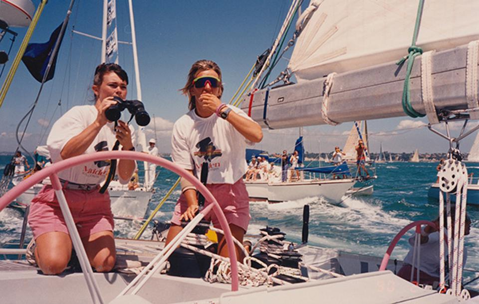 Tracy Edwards during Whitbread, yachting monthly
