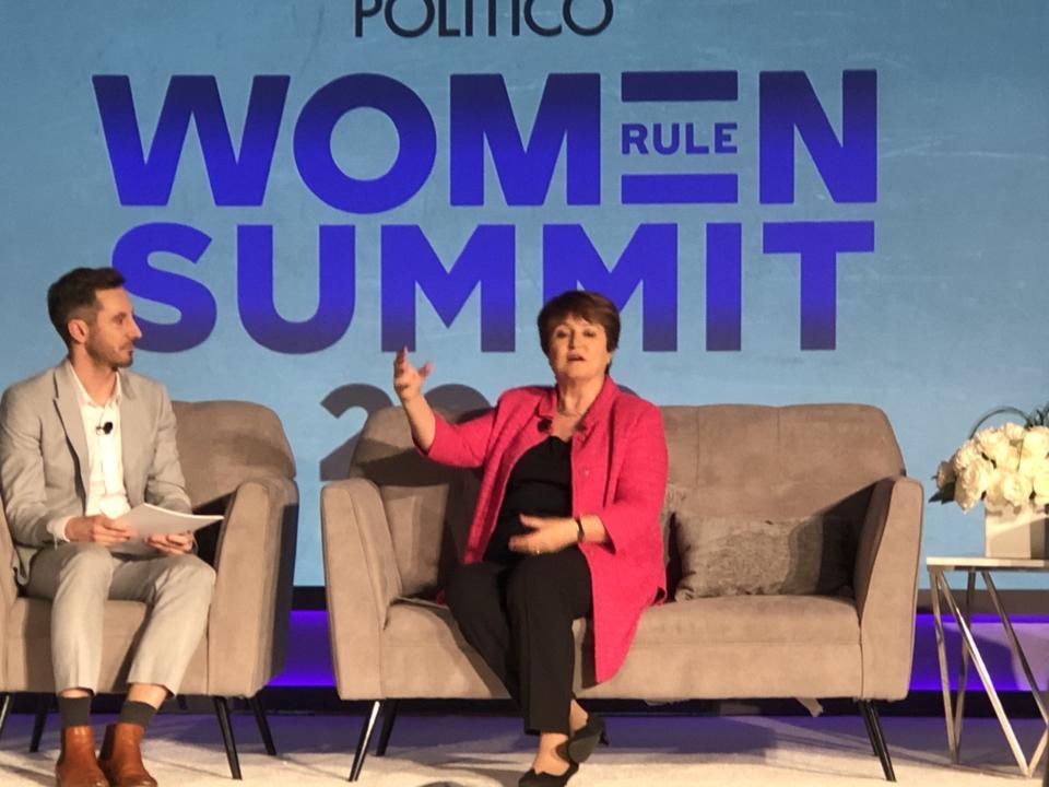 Kristalina Georgieva, IMF Managing Director, at Politico Women Rule Summit 2019