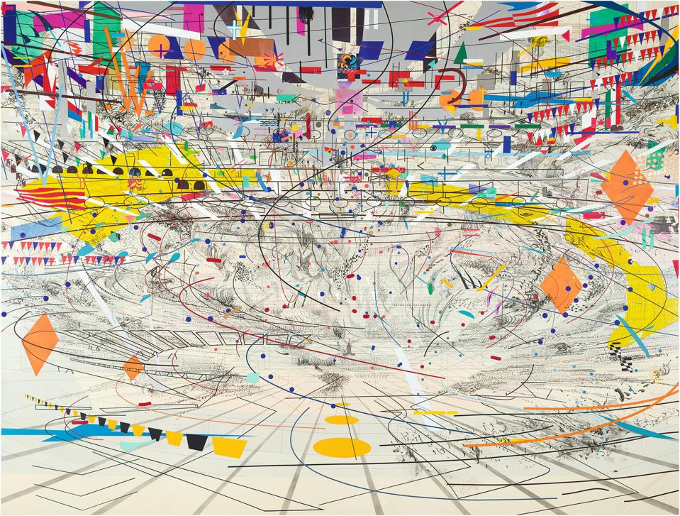 Julie Mehretu Mid-Career Survey Dazzles At Los Angeles County Museum Of Art