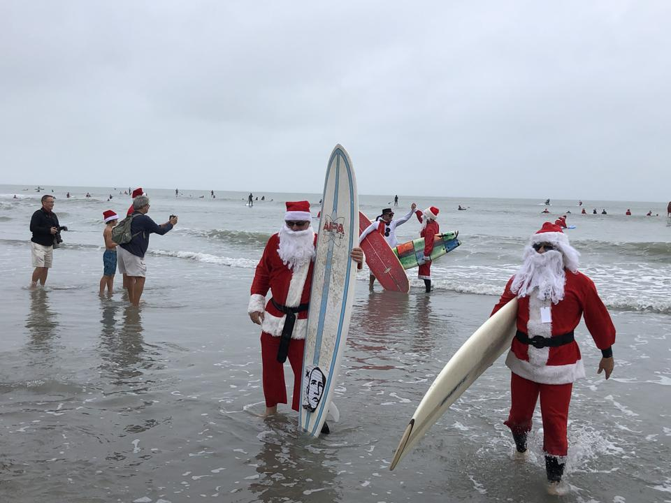 Surfing Santas celebrated its 10th year in 2019