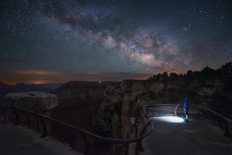 Watching Milky Way in Grand Canyon