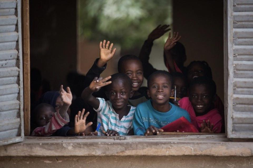 school children in Senegal