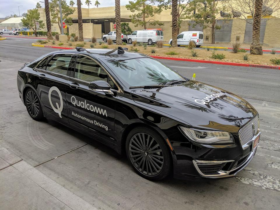 Qualcomm's automated driving development vehicle at CES 2019