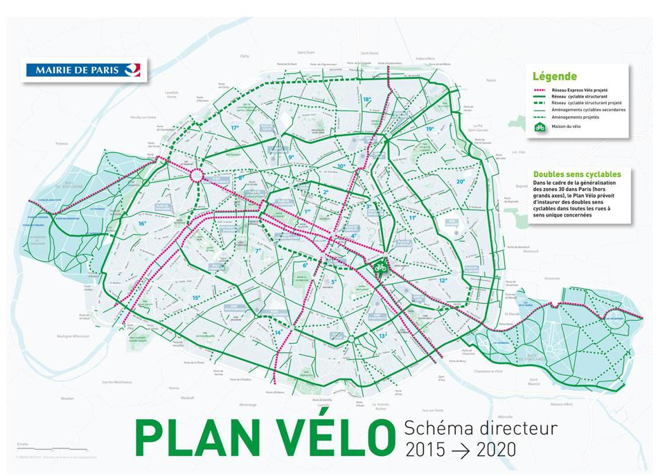Paris Mayor Anne Hidalgo's bicycle plan for the city.
