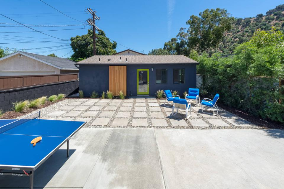 Converted garage in Los Angeles into a one-bedroom accessory dwelling unit.