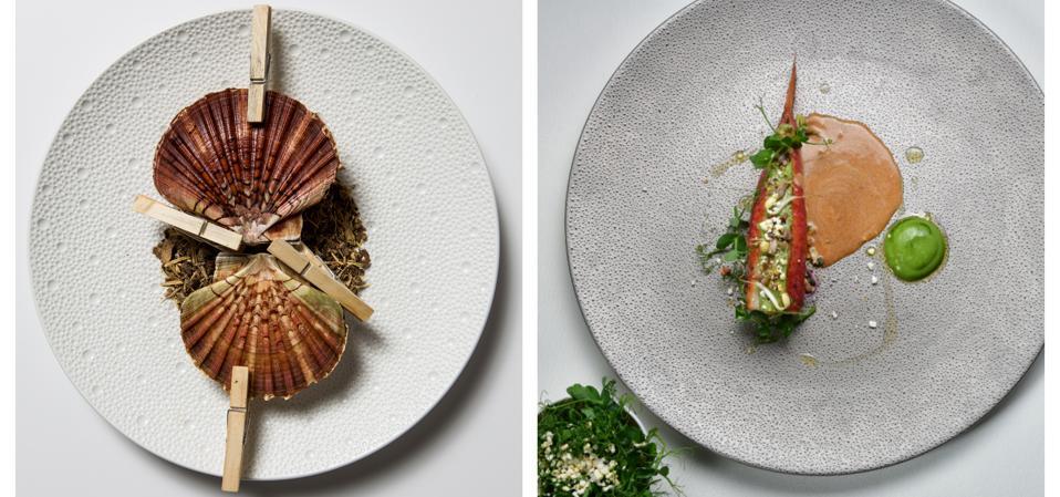 Michelin starred chef Fanny Rey's signature dishes at La Sivolière in Courchevel.