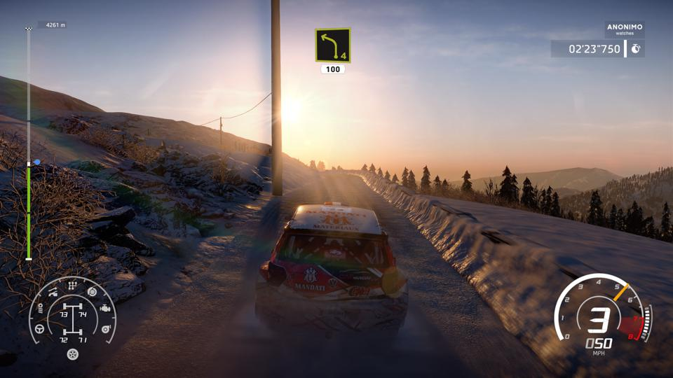 WRC 8 in the snow