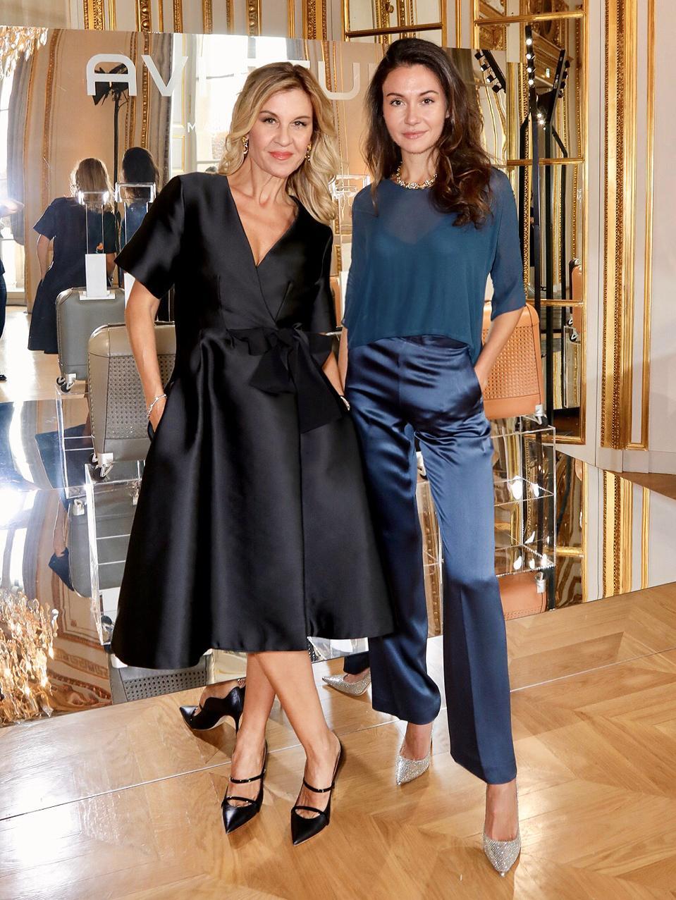 Patricia (L) and Victoria (R) Gucci