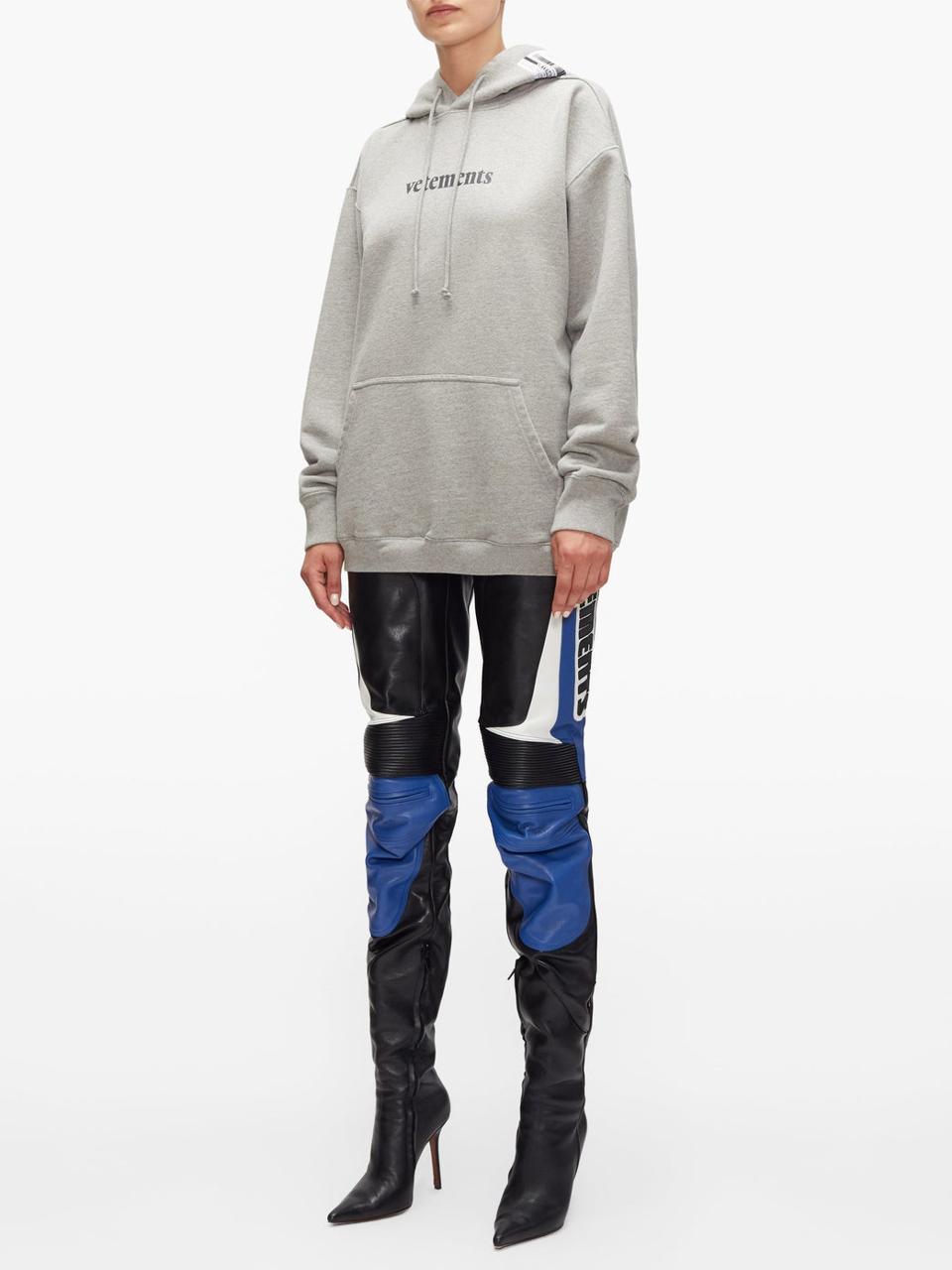 Logo-Print Hooded Sweatshirt by Vetements