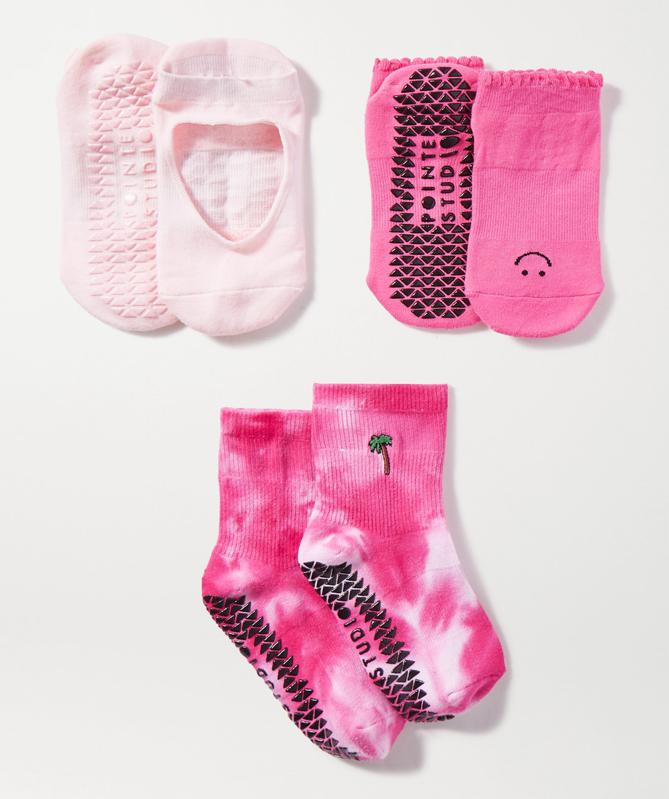 Stretch Cotton-Blend Socks by POINTE STUDIO