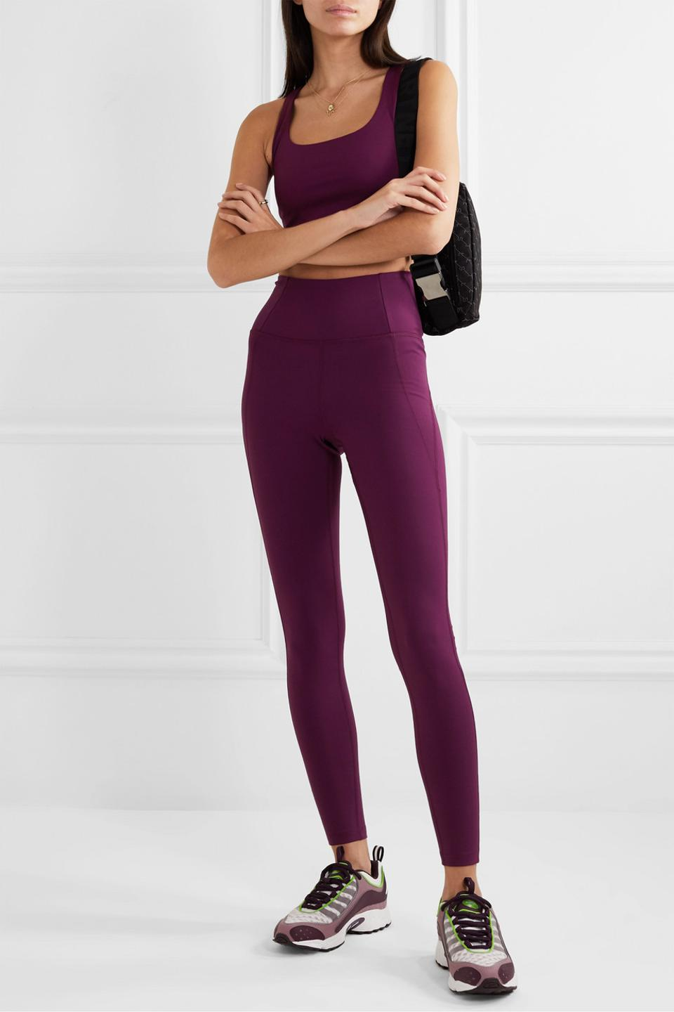 Compressive stretch leggings by Girlfriend Collective
