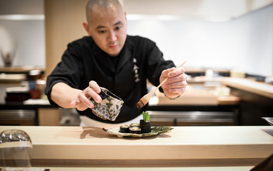 Chef Tomonori Nagai of Sushi Nagai
