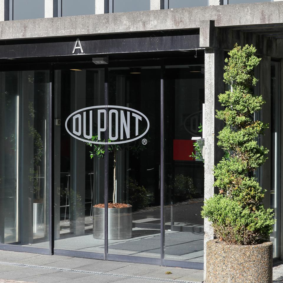 Aarhus, Denmark- May 16, 2016: Du Pont offices in Aarhus, Denmark. DuPont is one of America's most innovative companies and it is an American chemical company that was founded in July 1802 as a gunpowder mill.