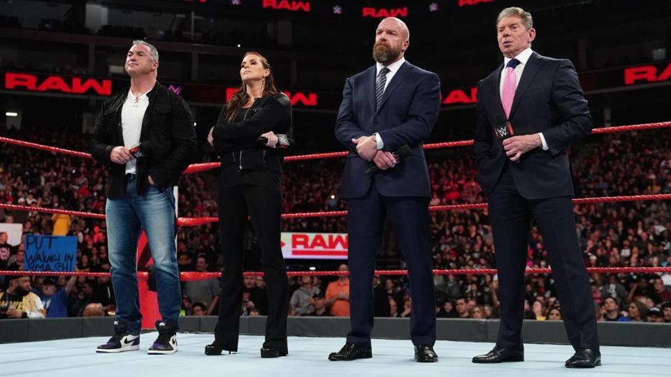 WWE Raw: Triple H, Vince McMahon, Stephanie McMahon and Shane McMahon