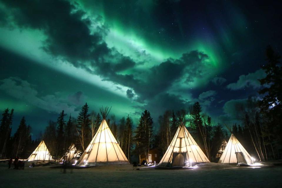 Aurora Village in Yellowknife, Canada