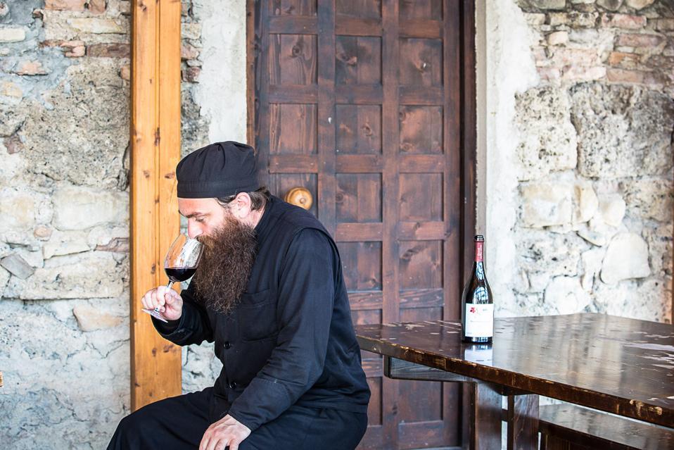 Father Gerasime of the Alaverdi Monastery in Kakheti, Georgia.