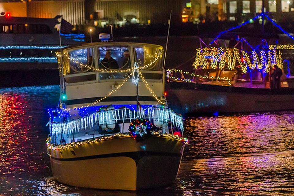 Boats in Holiday Parade, Alexandria, Virginia