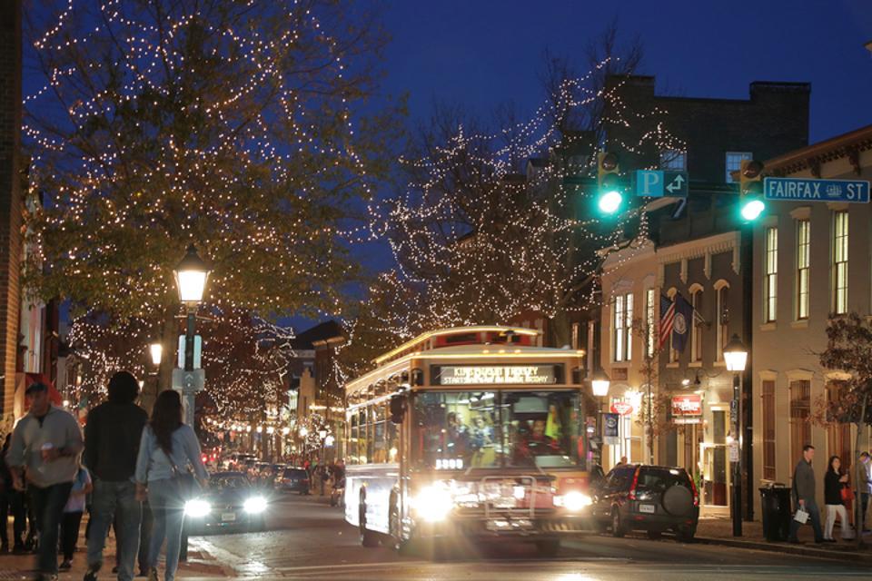 Free Trolley on Alexandria, Virginia's King Street