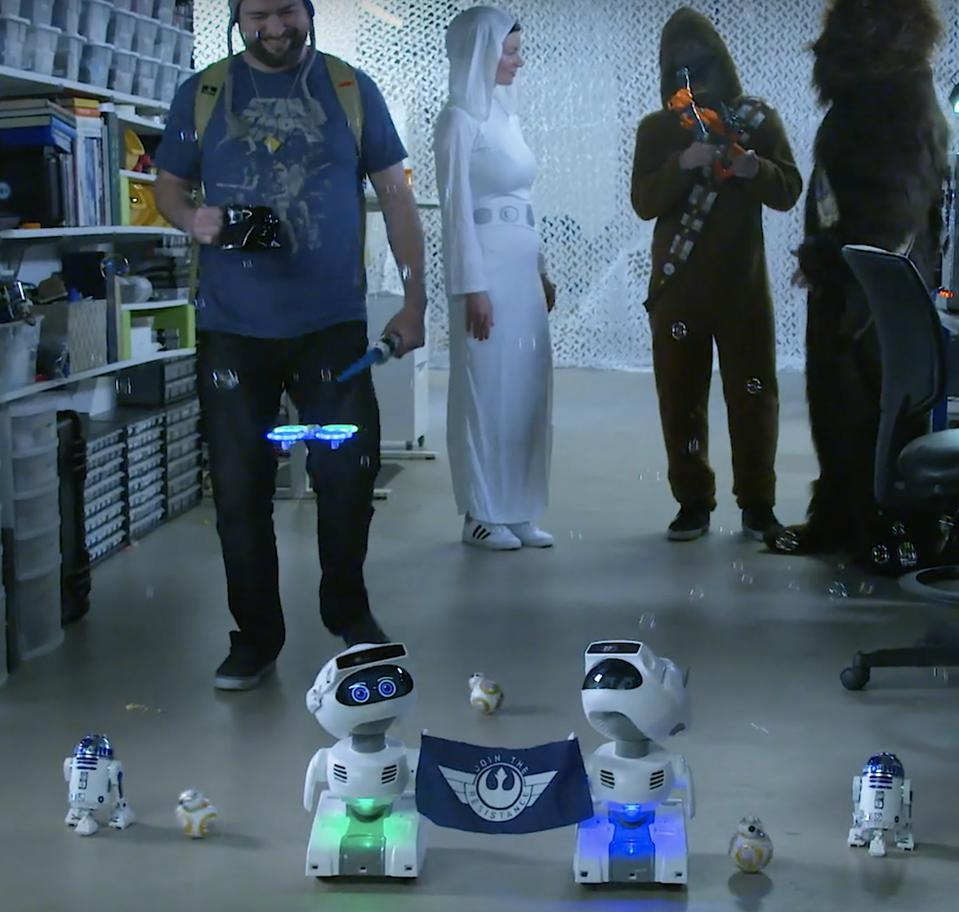 Misty Robotics ″May The Fourth Be With You Celebration″ with Misty II, BB-8 and R2D2
