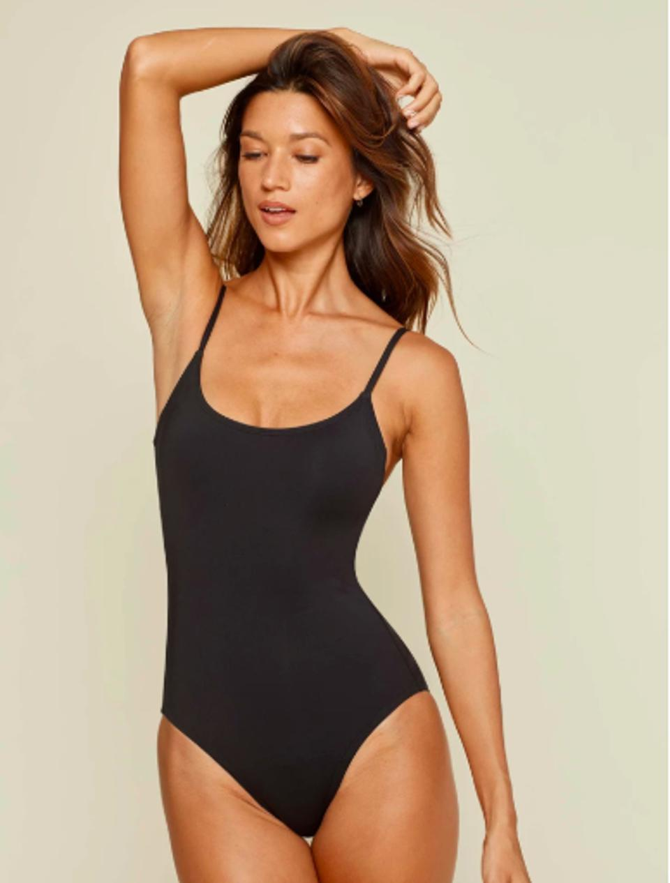 Black Amalfi Maillot by Andie