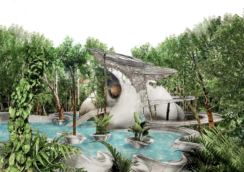 Exterior AZULIK Uh May villa