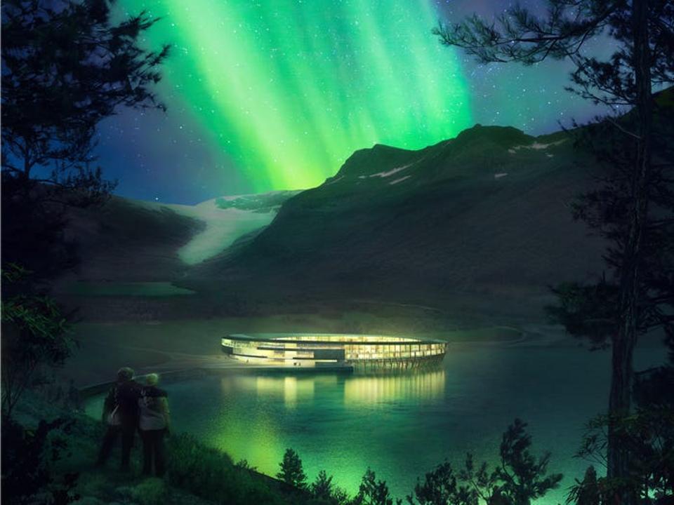 Svart Hotel northern lights