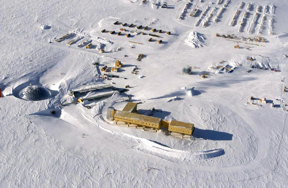 The US Amundsen-Scott South Pole Station in Antarctica.