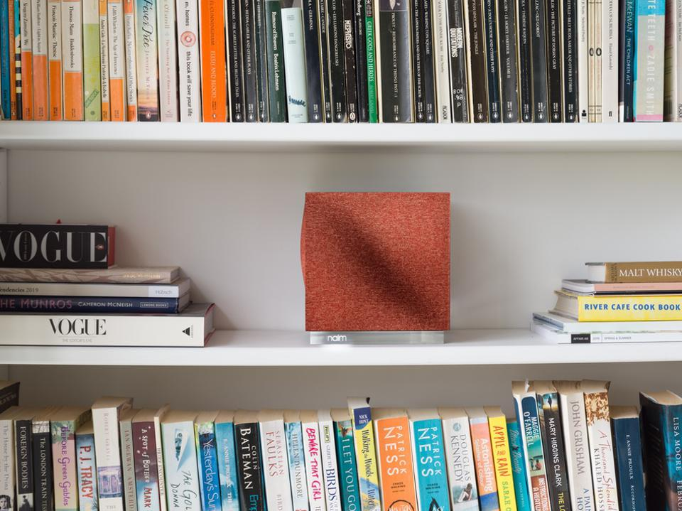 Naim Mu-so Qb Second Generation on bookshelf