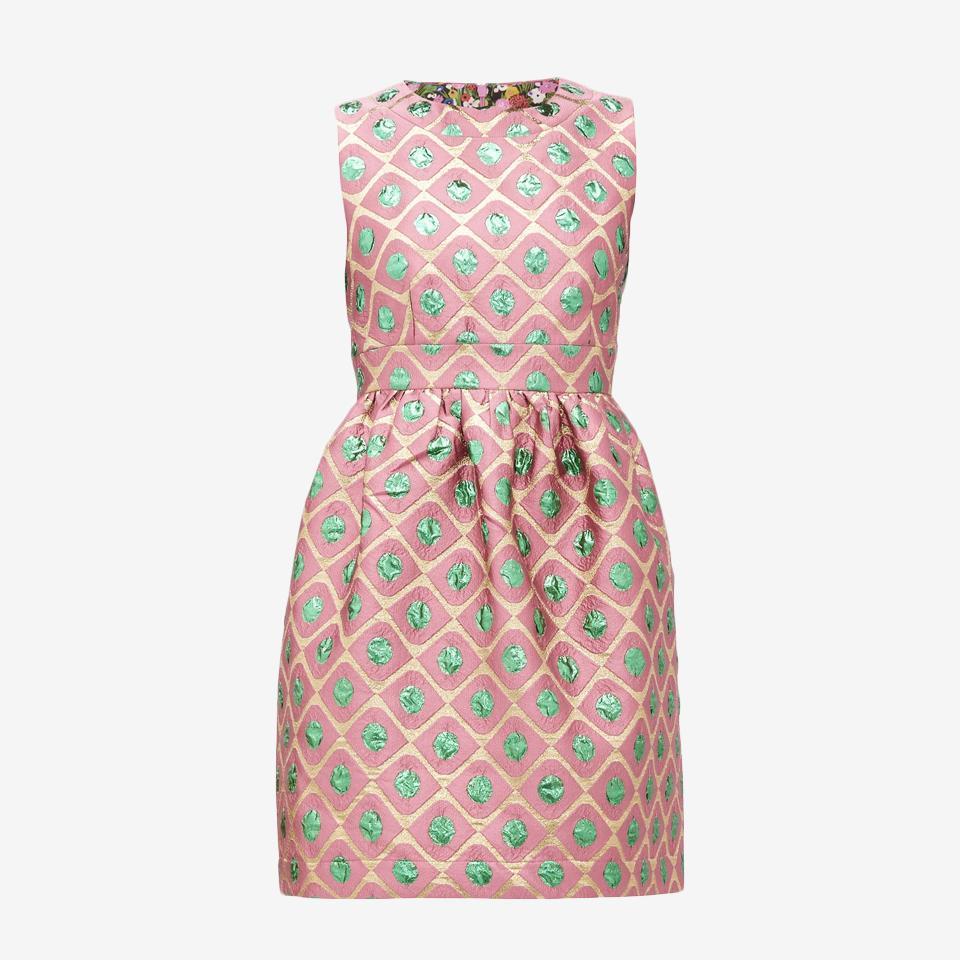 Jackie Pomodorini-Jacquard Mini Dress by La Double J.
