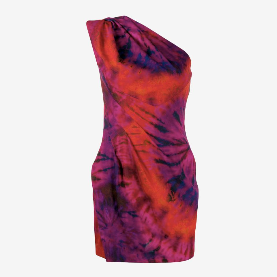 One Shoulder Tie-Dye Dress by Dsquared2.