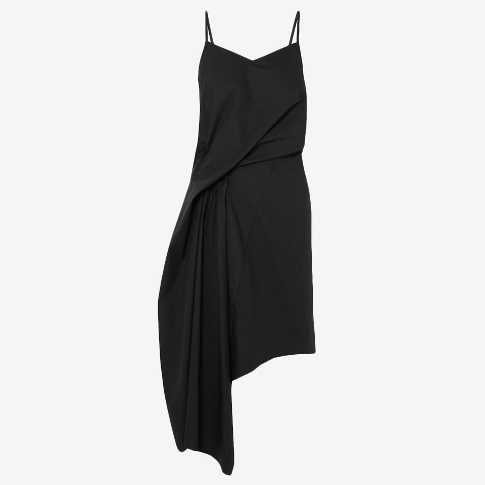 Asymmetric Draped Cotton-Poplin Dress by Marques'Almeida.