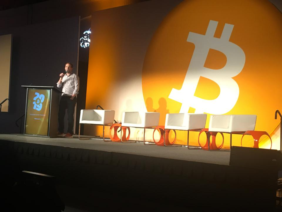 Organizer David Bailey concludes Bitcoin Conference 2019.