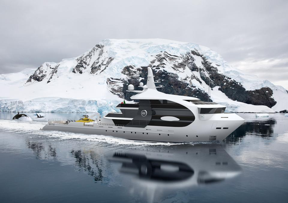 Art imiates life with Project Orca by Rosetti Superyachts.