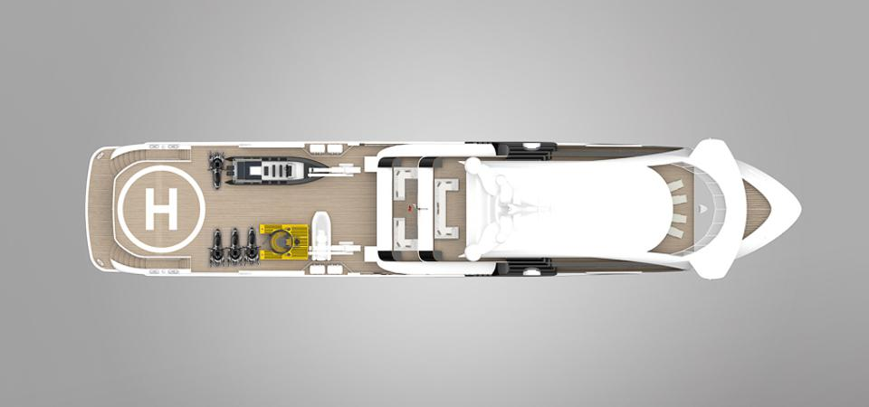 Project Orca by Rosetti Superyachts has room for a personal submarine and many other toys.