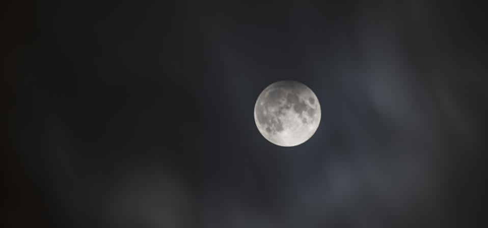 A penumbral lunar eclipse from 2017.