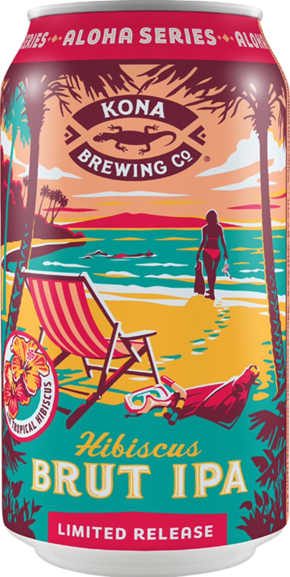 IPA d'hibiscus brut de la Kona Brewing Company.