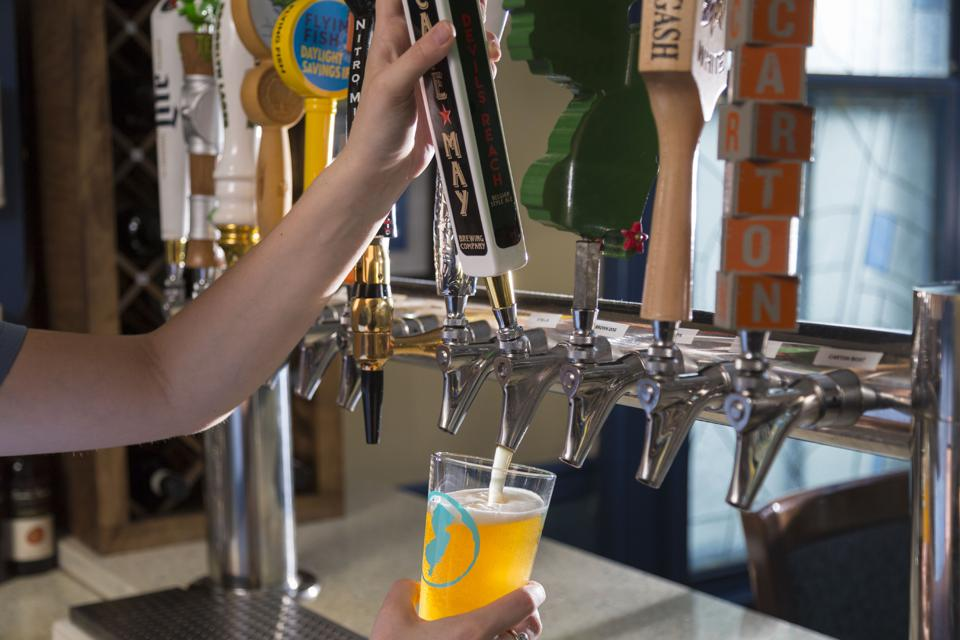 Craft beer is poured on draft in New Jersey