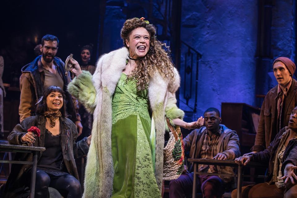 Amber Gray in Best Musical winner 'Hadestown'