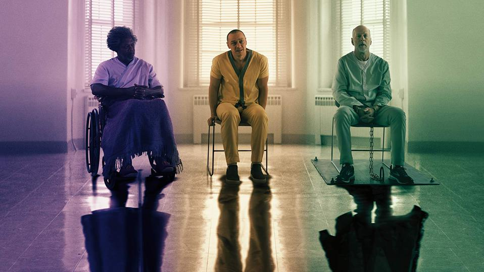 Samuel L. Jackson, James McAvoy and Bruce Willis in M. Night Shyamalan's 'Glass'