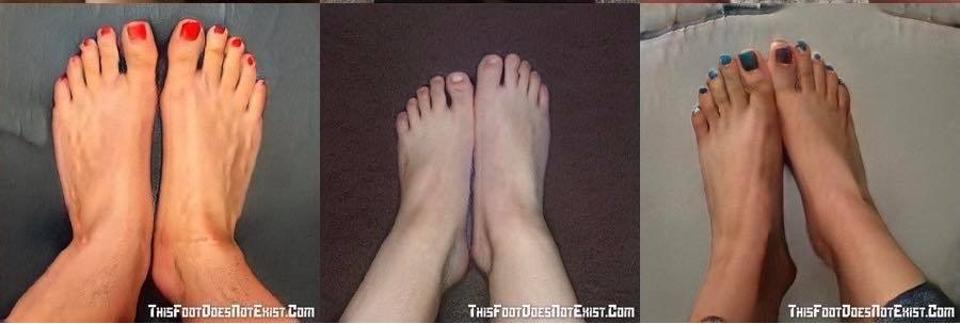 These feet do not exist